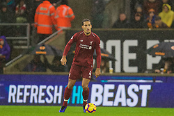 WOLVERHAMPTON, ENGLAND - Friday, December 21, 2018: The beast... Liverpool's Virgil van Dijk during the FA Premier League match between Wolverhampton Wanderers FC and Liverpool FC at Molineux Stadium. (Pic by David Rawcliffe/Propaganda)