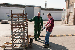 Instructor & prisoner working in the workshops, HMP Barlinnie, Glasgow
