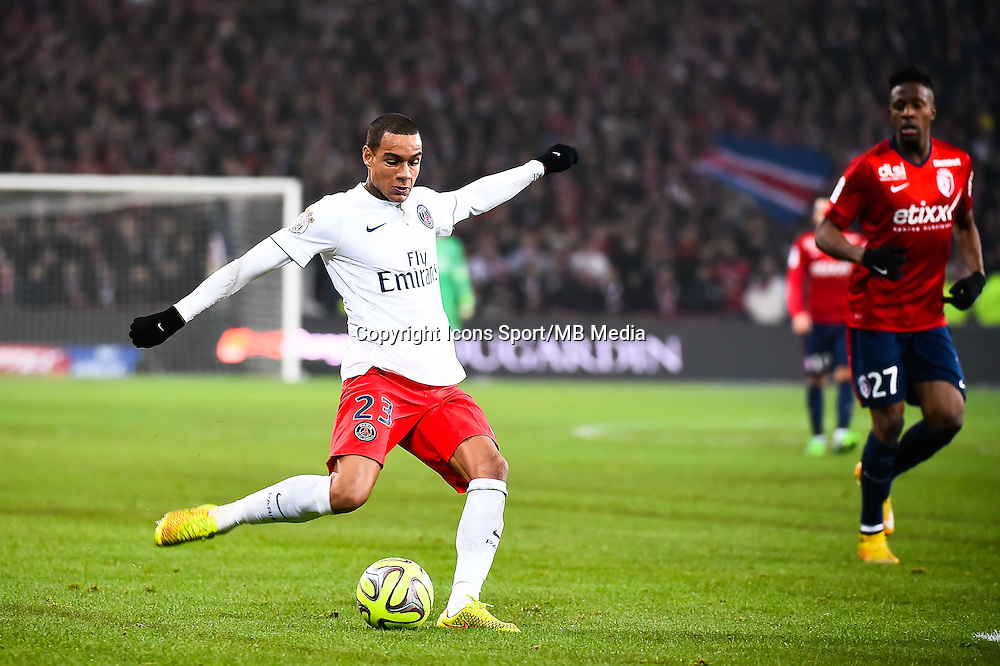 Gregory VAN DER WIEL - 03.12.2014 - Lille / Paris Saint Germain - 16eme journee de Ligue 1 -<br />