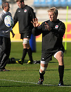 Lewis Moody warming up for England, during an England training session at Carisbrook in Dunedin, New Zealand. IRB Rugby World Cup 2011.Tuesday 6 September 2011. New Zealand. Photo: Richard Hood/photosport.co.nz