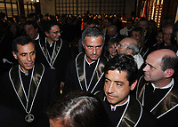 "20090323: LISBON, PORTUGAL – Portuguese coach Jose Mourinho honored with degree ""honoris causa"" by the Technical University of Lisbon (Universidade Tecnica Lisboa), where he majored in sports science. In picture: Jose Mourinho. PHOTO: Alvaro Isidoro/CITYFILES"