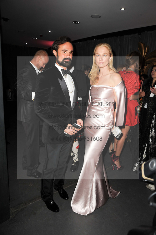 EVGENY LEBEDEV and JOELY RICHARDSON at The Love Ball hosted by Natalia Vodianova and Lucy Yeomans to raise funds for The Naked Heart Foundation held at The Round House, Chalk Farm, London on 23rd February 2010.