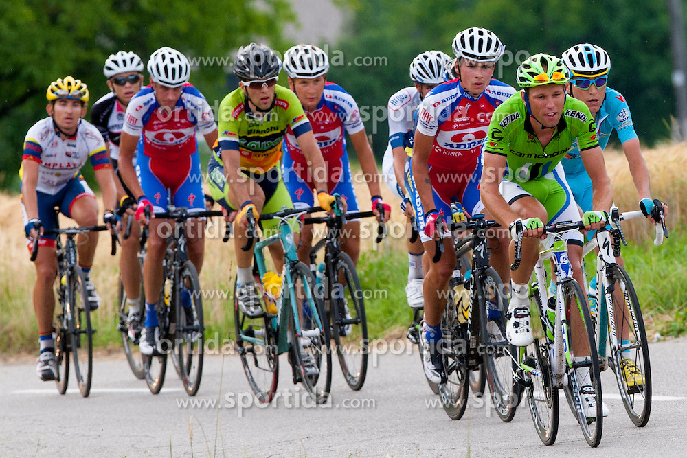 Peleton during Slovenian National Championship in Road Cycling, on June 23, 2013, in Gabrje, Slovenia. (Photo by Urban Urbanc / Sportida.com)