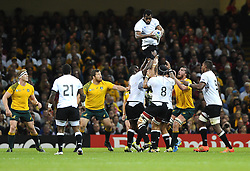 Fiji win a line out  - Mandatory byline: Joe Meredith/JMP - 07966386802 - 23/09/2015 - Rugby Union, World Cup - Millenium Stadium -Cardiff,Wales - Australia v Fiji - Rugby World Cup 2015 - Pool A