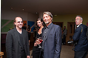 RODUCER; CHRIS BOLZLI;  ANNA MOUGLALIS; MADS MIKKELSEN;, Champagne reception before the UK Premiere of COCO CHANEL & IGOR STRAVINSKY. Soho Hotel, 4 Richmond Mews. London. 25 July 2010.   -DO NOT ARCHIVE-© Copyright Photograph by Dafydd Jones. 248 Clapham Rd. London SW9 0PZ. Tel 0207 820 0771. www.dafjones.com.