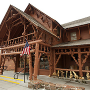 Old Faithful Lodge, Yellowstone National Park.  Wyoming, USA
