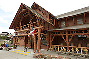 Old Faithful Lodge, Yellowstone National Park.  Wyoming, USA