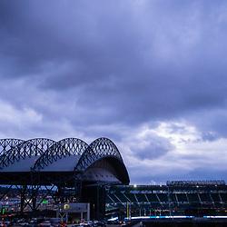 SEATTLE, WASHINGTON - DECEMBER 3: Safeco Field as seen from CenturyLink Field in Seattle, WA. (Photo by Christopher Mast/Seattle Seahawks)