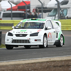 RX Racings Irishman Ollie O'Donovon went on to secure second place in the supercars. First round of the British Rallycross Championship held at Croft Circuit. (c) Matt Bristow | SportPix.org.uk
