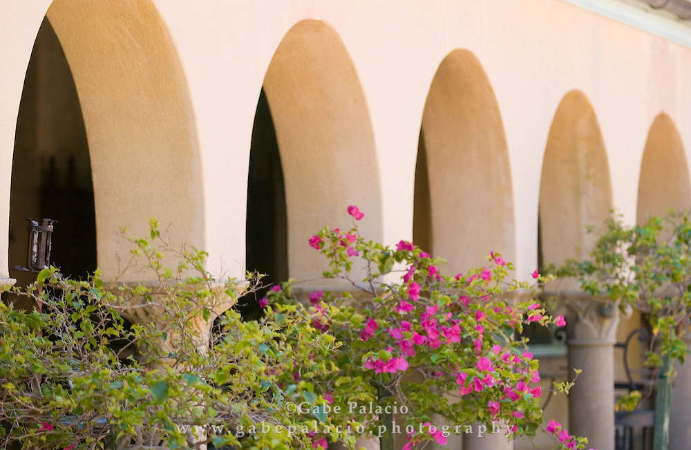 Arches and Gardens in the Spanish Courtyard