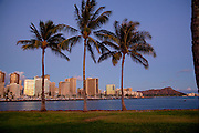Ala Moana Beach Park, Waikiki, Honolulu, Oahu, Hawaii