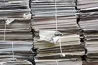 Stacks of paper full frame