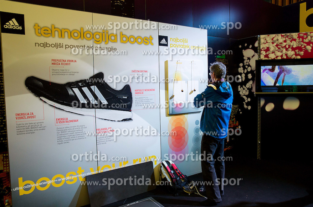 Adidas  during 19th Ljubljana Marathon 2014 on October 25, 2014 in Ljubljana EXPO, Slovenia. Photo by Vid Ponikvar / Sportida.com