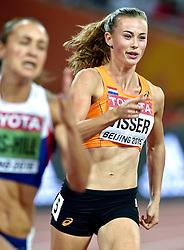 22-08-2015 CHN: IAAF World Championships Athletics, Beijing<br /> Nadine Visser heeft zich op het vierde onderdeel van de zevenkamp bij de WK atletiek in Peking teruggevochten naar de derde plaats in de tussenstand. De twintigjarige atlete liep de 200 meter in 23,78. Daarmee eindigde ze ook op dit onderdeel, het laatste van de eerste dag, als derde.<br /> Photo by Ronald Hoogendoorn / Sportida