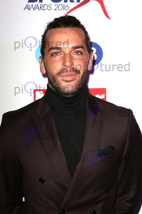 Pete Wicks, Pride of Sport Awards, Grosvenor House Hotel, London UK, 07 December 2016, Photo by Richard Goldschmidt
