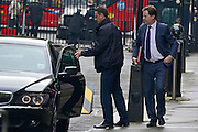 © Licensed to London News Pictures. 11/06/2013. westminster, UK. Nick Clegg, Liberal Democrat MP, Deputy Prime Minister gets out of his ministerial car.  Ministers on Downing Street today 11th June 2013. Photo credit : Stephen Simpson/LNP