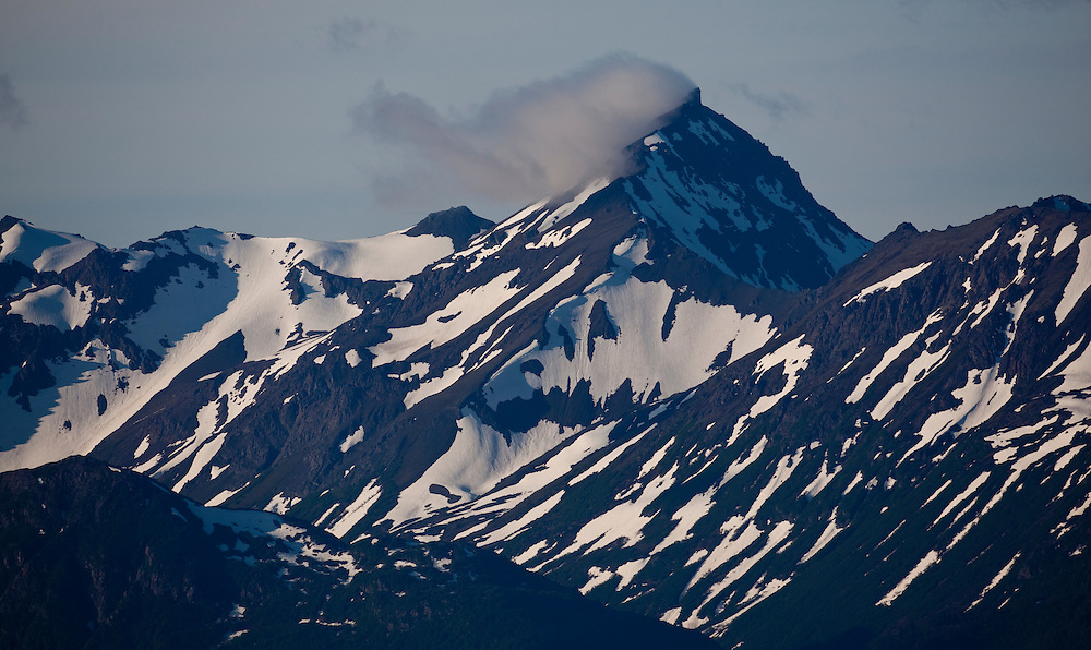 Alaska2010.-Alaskan mountains rise above Kachemak Bay near Homer AK.