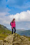 Walking on the Kentmere Horseshoe, at Shipman Knotts, Kentmere, Lake District, Cumbria
