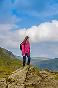Walking on the Kentmere Horseshoe, at Shipman Knotts, Kentmere, Lake District, Cumbria