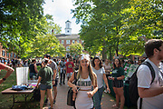 The Student Invovelement Fair on College Green.