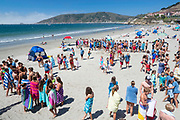 Lifeguard training at Avila Beach, California, USA.