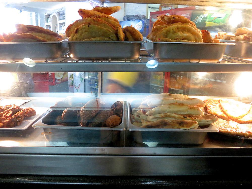 Fried food, ElCaribe bus station, Zona Colonial, Santo Domingo, Dominican Republic