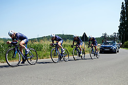 Team Virtu Cycling at Stage 1 of 2019 Giro Rosa Iccrea, an 18 km team time trial from Cassano Spinola to Castellania, Italy on July 5, 2019. Photo by Sean Robinson/velofocus.com