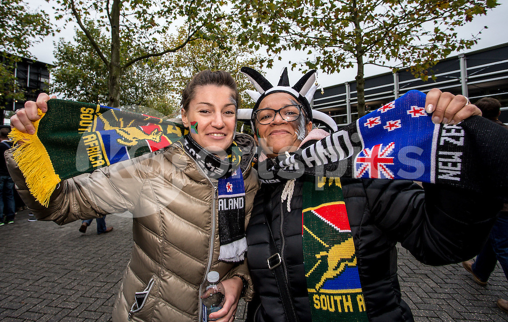 The fans during the Rugby World Cup Semi Final match between South Africa and New Zealand played at Twickenham Stadium, London on the 24th of October 2015. Photo by Liam McAvoy