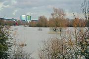 Nederland, Arnhem, 4-2-2013Dit gebied ten zuiden van de rijn, meinerswijk, wordt in de toekomst een groot natuur en recreatiegebied. Op de achtergrond de stad met de kantoren van Arcadis en essentFoto: Flip Franssen/Hollandse Hoogte