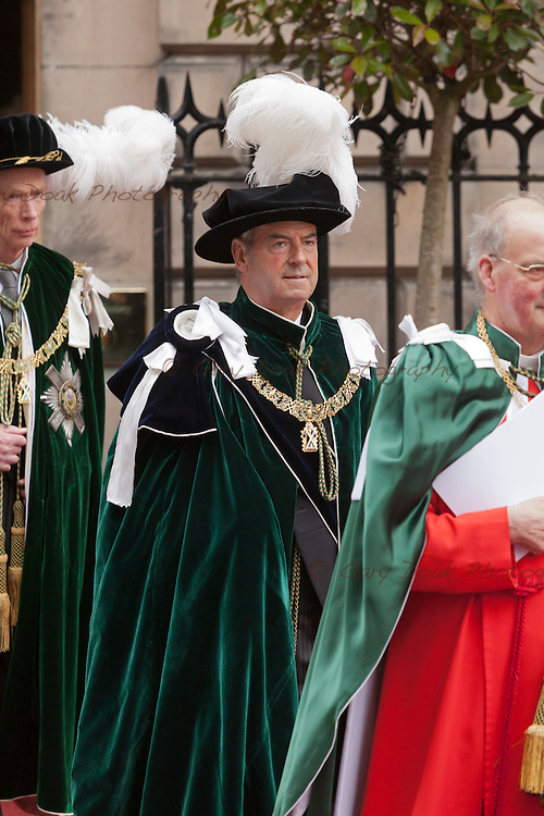 Lord Smith of Kelvin receives the Order of the Thistle at a service at St. Giles Cathedral, Edinburgh.<br /> The Queen, the Duke of Edinburgh, Prince William and the Princess Royal were in attendance.