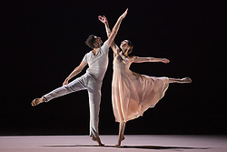 © Licensed to London News Pictures. 10/11/2015. London, UK. Scene d'Amour from Romeo et Juliette performed by Lorena Justribo Manion and Ygal Tsur. Dress rehearsal of Berlin-based dance troupe Sasha Waltz & Guests performing the UK premiere of Sacre, a triple bill, at Sadler's Wells Theatre from 11 to 13 November 2015. Photo credit: Bettina Strenske/LNP