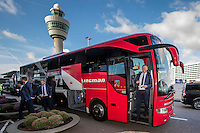 AMSTERDAM - 28-09-2016, Zenit - AZ, vertrek Schiphol, AZ trainer John van den Brom