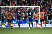 30th August 2019; Dens Park, Dundee, Scotland; Scottish Championship, Dundee Football Club versus Dundee United; Lawrence Shankland of Dundee United scores for 3-1