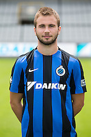 Club's Fran Brodic poses for the photographer during the 2015-2016 season photo shoot of Belgian first league soccer team Club Brugge, Friday 17 July 2015 in Brugge