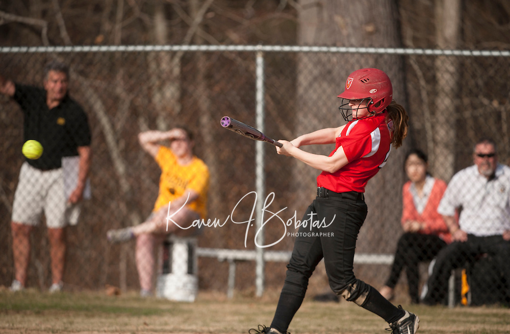 St Paul's School varsity softball with Tilton School.  Karen Bobotas for St Paul's School