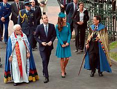 Dunedin-Royal Visit, Duke and Duchess at Palm Sunday church service