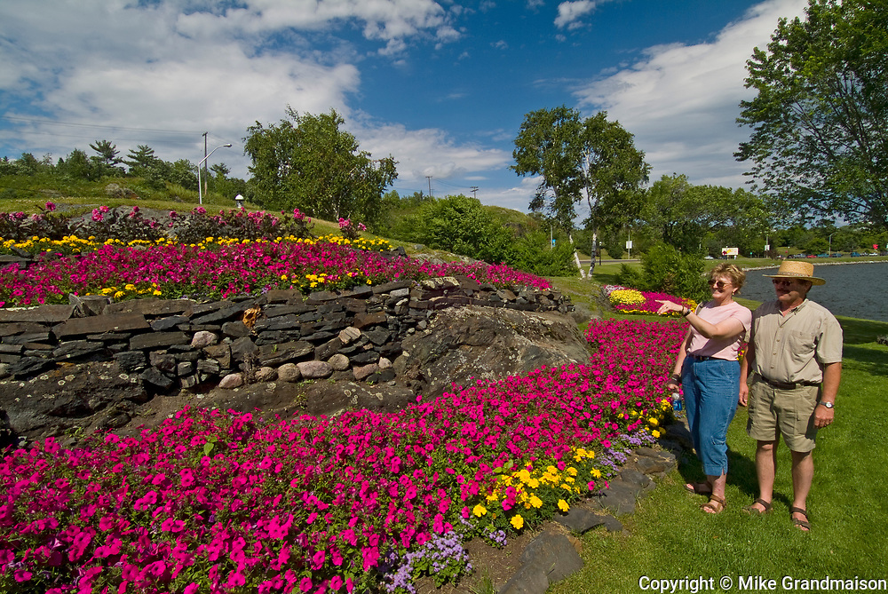 Gardens and tourists in McLeod Park<br />