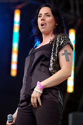 Spice Girl, Sporty Spice  Mel C  performs solo at Party in the Park Temple Newshome Leeds 2005<br />