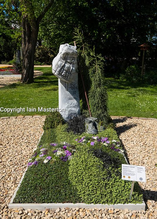 Display of grave monuments and gardens at IGA 2017 International Garden Festival (International Garten Ausstellung) in Berlin, Germany