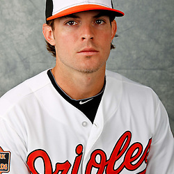 March 1, 2012; Sarasota, FL, USA; Baltimore Orioles second baseman Ryan Adams (6) poses for a portrait during photo day at the spring training headquarters.  Mandatory Credit: Derick E. Hingle-US PRESSWIRE