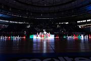 BRESCIA 29 SETTEMBRE 2018<br /> BASKET SUPERCOPPA 2018<br /> FIAT TORINO - DOLOMITI ENERGIA TRENTO<br /> NELLA FOTO INGRESSO SQUADRE<br /> FOTO CIAMILLO