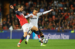 November 5, 2019, Valencia, Valencia, Spain: Rodrigo Moreno of Valencia and Yusuf Yazici of Losc Lille during the during the UEFA Champions League group H match between Valencia CF and Losc Lille at Estadio de Mestalla on November 5, 2019 in Valencia, Spain (Credit Image: © AFP7 via ZUMA Wire)