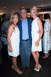 Left to right, AMANDA KYME, MARK SHAND and TAMARA BECKWITH at a private view of Sacha Jafri's paintings entitled 'London to India' held in aid of The Elephant Family charity at 23 Macklin Street, Covent Garden, London on 3rd June 2010.