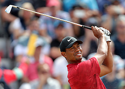 July 22, 2018 - Angus, XSC - Tiger Woods tees off the third hole during day four of The Open Championship 2018 at Carnoustie Golf Links on Sunday, July 22, 2018 in Carnoustie, Scotland. (Credit Image: © Richard Sellers/TNS via ZUMA Wire)