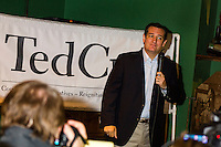 Republican Presidential candidate Ted Cruz speaks to the crowd gathered at Funspot on Saturday afternoon.  (Karen Bobotas/for the Laconia Daily Sun)