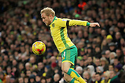 Norwich City forward Alex Pritchard controls the ball during the EFL Sky Bet Championship match between Norwich City and Brentford at Carrow Road, Norwich, England on 3 December 2016. Photo by Nigel Cole.
