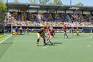 Den Bosch - Den Bosch - SCHC  Dames, Halve Finale  Playoffs, Tweede wedstrijd, Hoofdklasse Hockey Dames, Seizoen 2017-2018, 05-05-2018, Den Bosch - SCHC 4-2,  overzicht speelveld.<br /> <br /> (c) Willem Vernes Fotografie