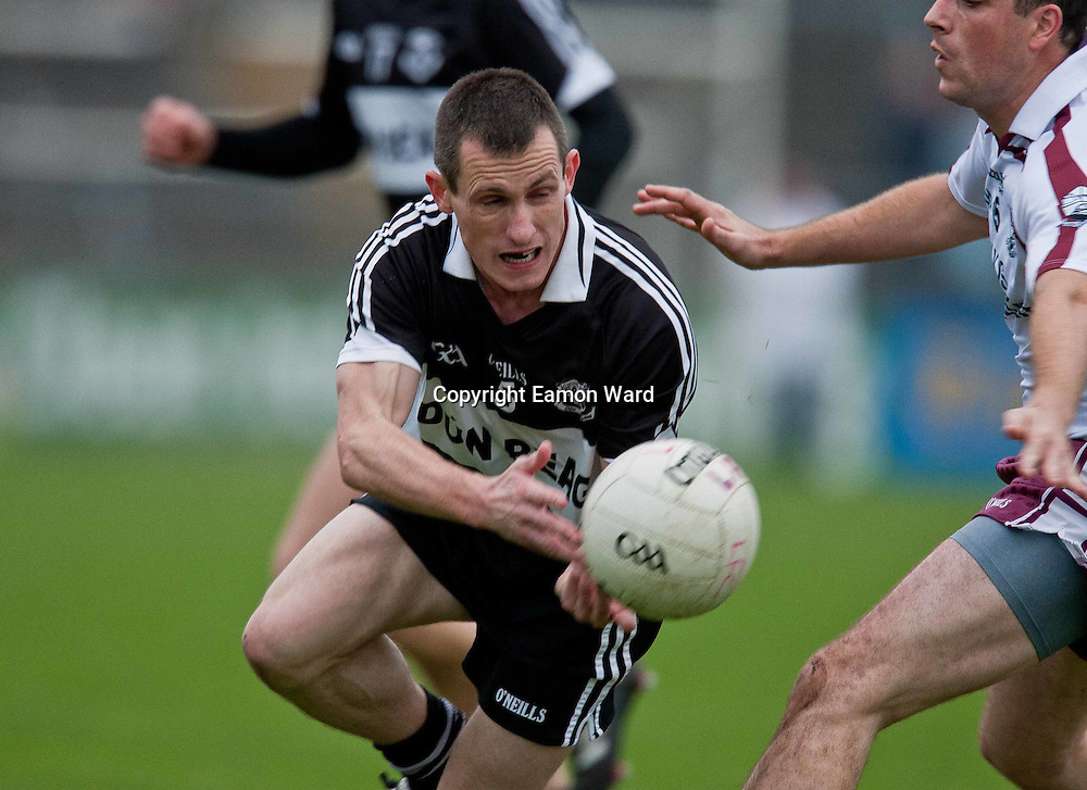 Richie Vaughan in action for Doonbeg during the Doonbeg V Liscannor ,Clare Senior Football County final in Ennis on Sunday. Photograph by Eamon Ward