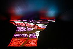 Interior do Panteão da Pátria e da Liberdade Tancredo Neves possui o formato de pomba e está Praça dos Três Poderes. Foi projetada pelo arquiteto Oscar Niemeyer. FOTO: Jefferson Bernardes/ Agência Preview
