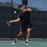 11 March 2016: The San Diego State Aztecs tennis team took on Arizona Saturday afternoon at the SDSU Tennis Center.<br /> www.sdsuaztecphotos.com